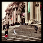 stairs of the met.